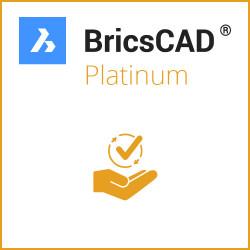 Einzelplatz BricsCAD® Platinum V20 Miete 3 Jahre inkl. Wartung