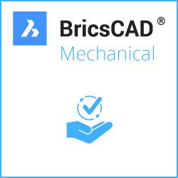 Einzelplatz BricsCAD® Mechanical V20 Miete 3 Jahre inkl. Wartung